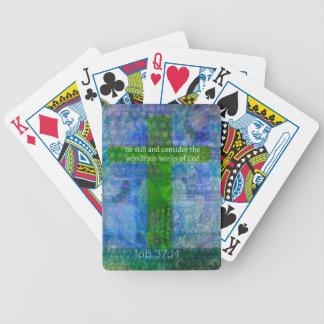Job 37:14 Beautiful Bible Verse Poker Cards