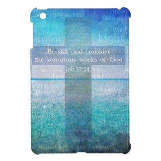 Job 37:14 Bible Verse Cover For The iPad Mini