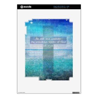 Job 37:14 Bible Verse Decal For iPad 2