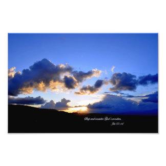 Job 37:14 Stop and consider God's wonders. Photo Print
