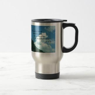 Job 37:16 Do you know how the clouds... Travel Mug