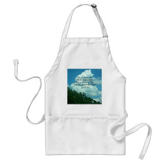 Job 37:16 Do you know the clouds... Adult Apron