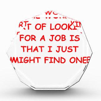 job acrylic award