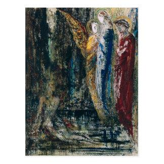Job and the Angels, c.1890 Postcard