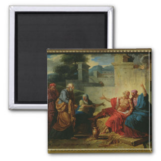 Job Being Scolded by his Wife, c.1790 2 Inch Square Magnet
