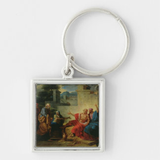 Job Being Scolded by his Wife, c.1790 Silver-Colored Square Keychain