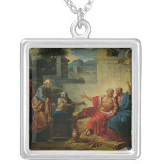 Job Being Scolded by his Wife, c.1790 Square Pendant Necklace