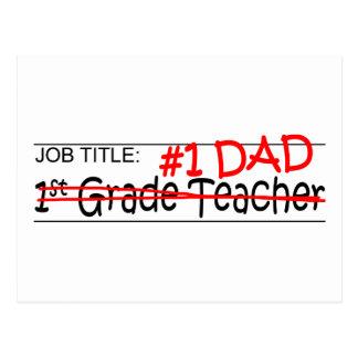 Job Dad 1st Grade Postcard