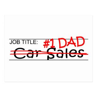 Job Dad Car Sales Postcard