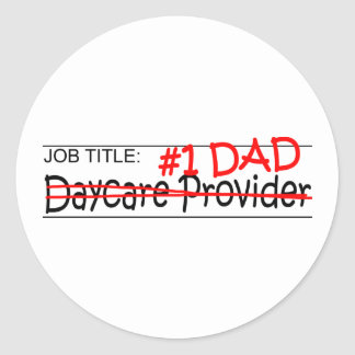 Job Dad Daycare Classic Round Sticker