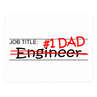 Job Dad Engineer Postcard
