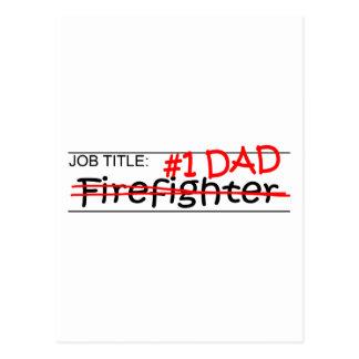 Job Dad Firefighter Postcard