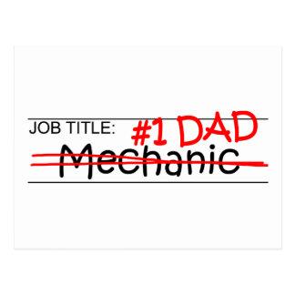 Job Dad Mechanic Postcard