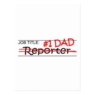 Job Dad Reporter Postcard