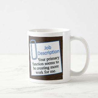Job Description Coffee Mug