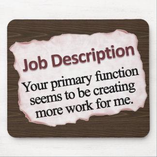 Job Description Mousepad