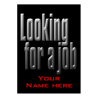 Job Hunting Business Card for Man/Guy
