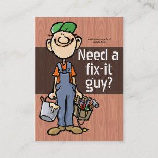Fix it guy business cards zazzle job hunting handyman fix it carpenter painter business card colourmoves