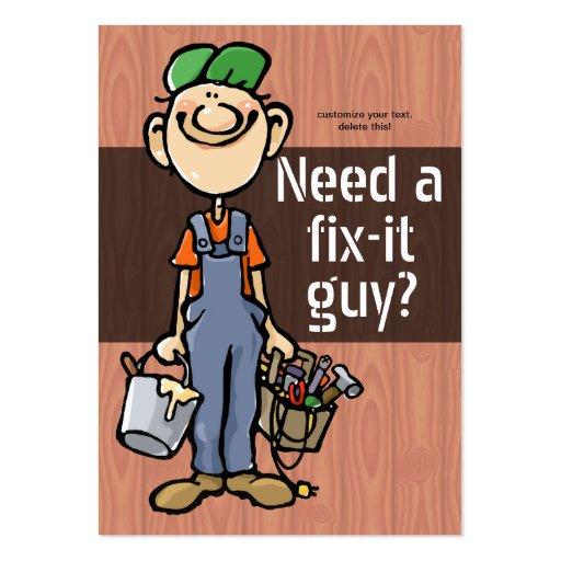 Job Hunting Handyman Fix-It Carpenter Painter Business Card Templates
