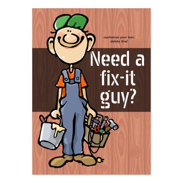 Lawyer Card Template: Job Hunting Handyman Fix-It Carpenter Painter Business
