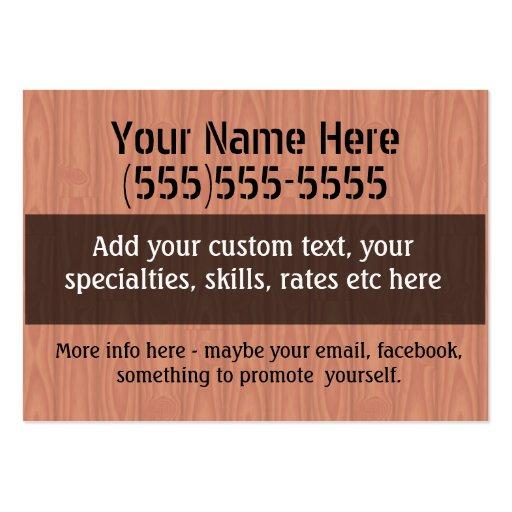 Job Hunting Handyman Fix-It Carpenter Painter Business Card Templates (back side)