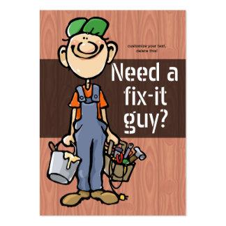 Job Hunting Handyman Fix-It Carpenter Painter Large Business Card