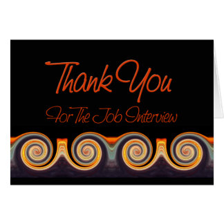 Job Interview Thank You - Sunset Swirl Note Card