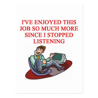 JOB  joke Postcard