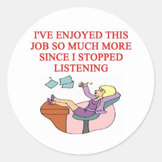 JOB joke Stickers