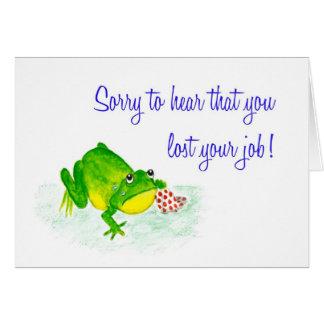 Job Loss Sympathy Card - Sad Green Frog