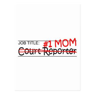 Job Mom Court Reporter Postcard