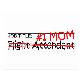 Job Mom Flight Attendant Postcard