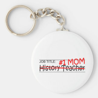 Job Mom History Teacher Basic Round Button Keychain