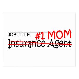 Job Mom Insurance Agent Postcard