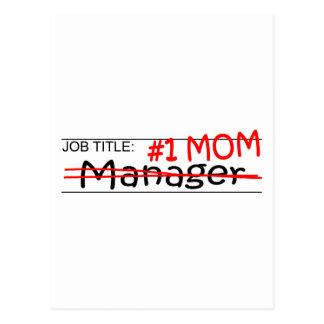 Job Mom Manager Postcard
