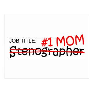 Job Mom Stenographer Postcard