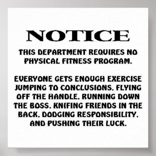 Job Notice Poster
