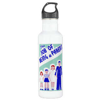 Job of Being a Parent WPA Poster bottle 24oz Water Bottle