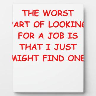 job photo plaques