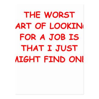job postcards
