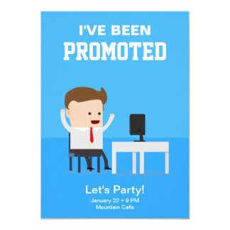 Job Promotion Announcement Party Invitation