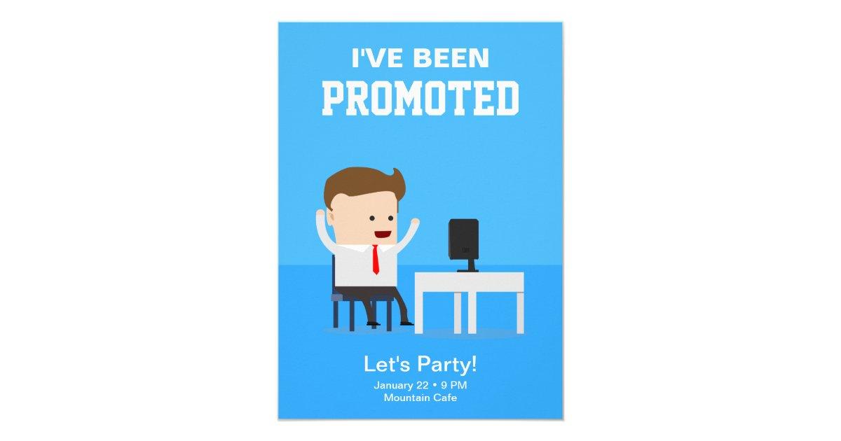 Job Promotion Announcement Party Invitation | Zazzle.com