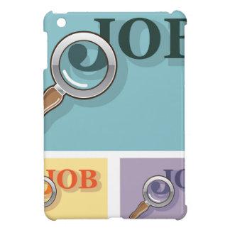 Job search under magnifying glass Vector illustrat iPad Mini Cases