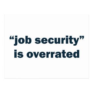 Job security postcard