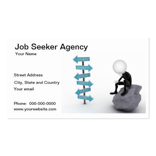 job seeker agency business card