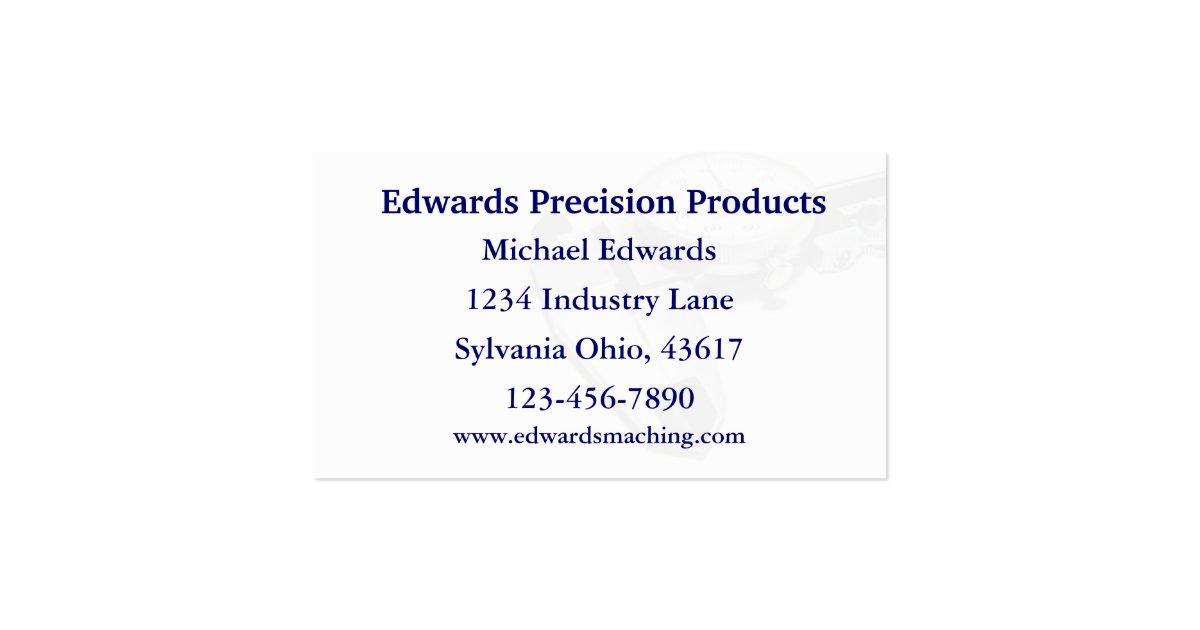 machine shop business cards