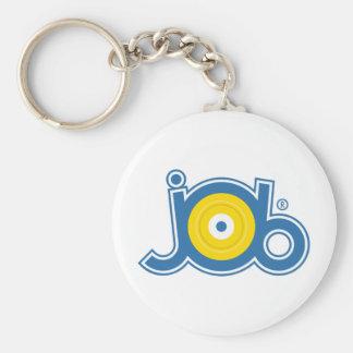 JoB Signature Basic Round Button Keychain
