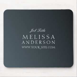 Job Title Business Stylish Cadet Black Gradient Mouse Pad