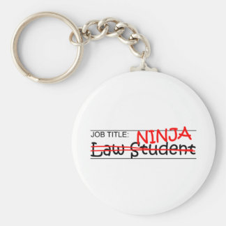 Job Title Law Student Basic Round Button Keychain