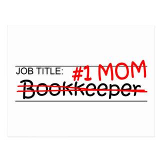 Job Title Mom Bookkeeper Postcard